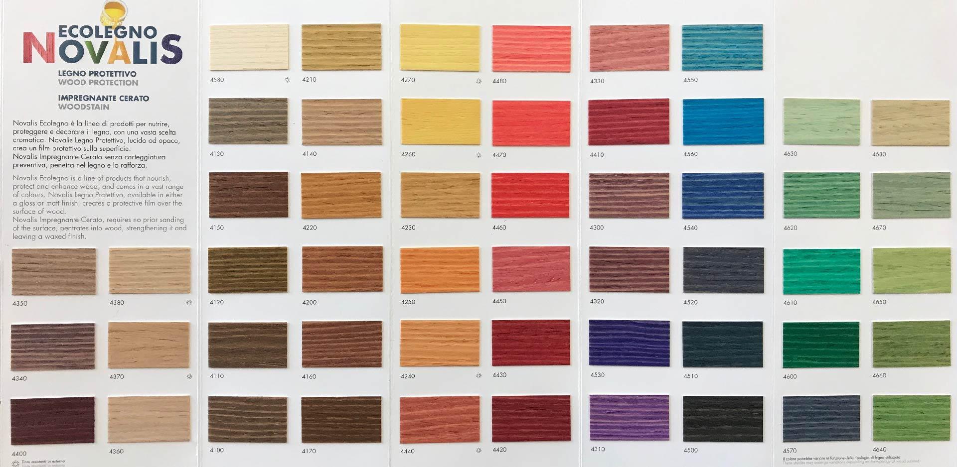 Mazzetta colori legno Bonfante Forniture